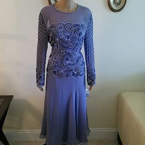 Dresses & Skirts - Adriana Papell  Silk sequined gown, Size 10